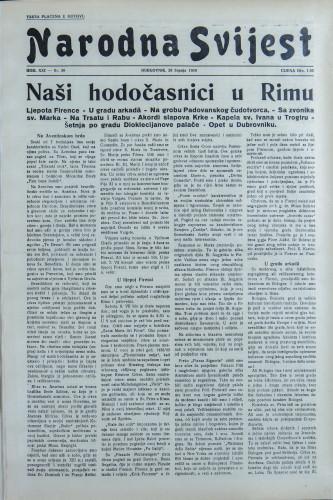 Narodna svijest, 1939/30