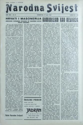 Narodna svijest, 1940/31
