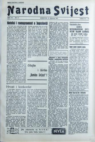 Narodna svijest, 1937/37