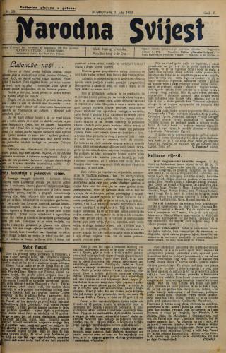 Narodna svijest, 1923/29
