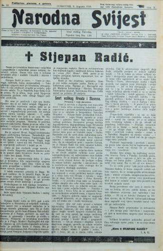 Narodna svijest, 1928/32