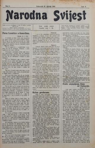 Narodna svijest, 1920/4