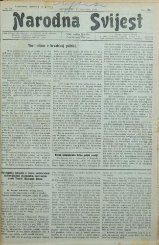Narodna svijest, 1926/38