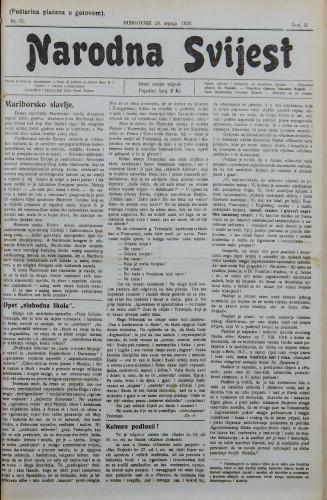 Narodna svijest, 1920/31