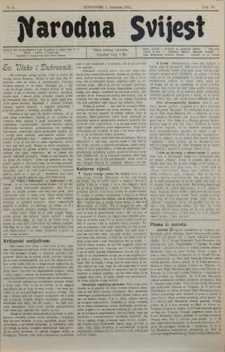 Narodna svijest, 1922/5
