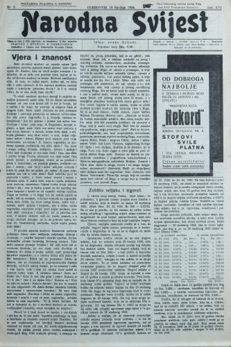 Narodna svijest, 1934/2