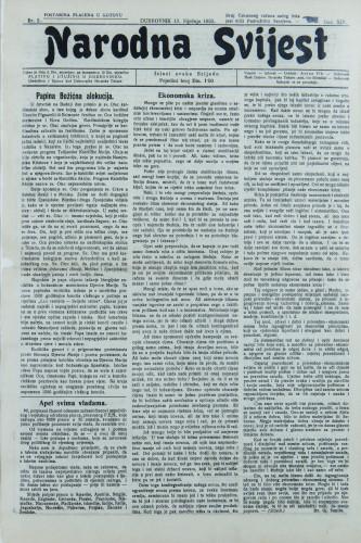 Narodna svijest, 1932/2