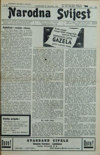 Narodna svijest, 1931/48