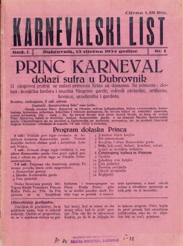 Karnevalski list/Br. 1-3; izv. izd.