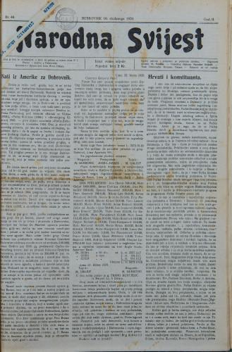 Narodna svijest, 1920/46