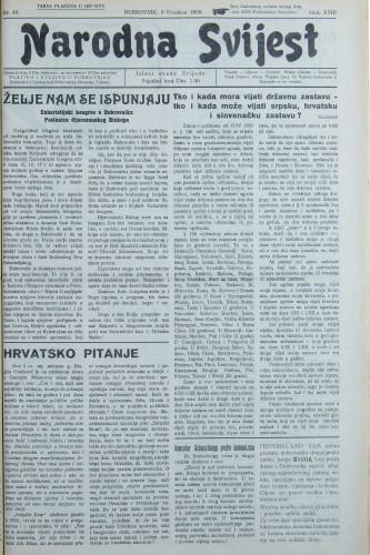 Narodna svijest, 1936/49