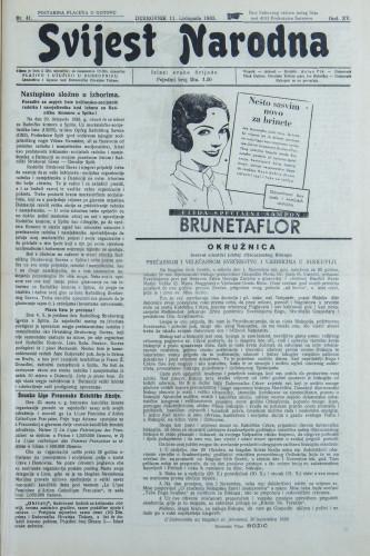 Narodna svijest, 1933/41