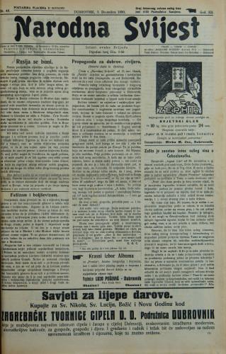 Narodna svijest, 1930/48