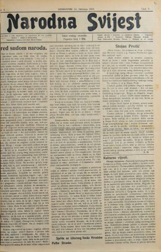 Narodna svijest, 1923/7