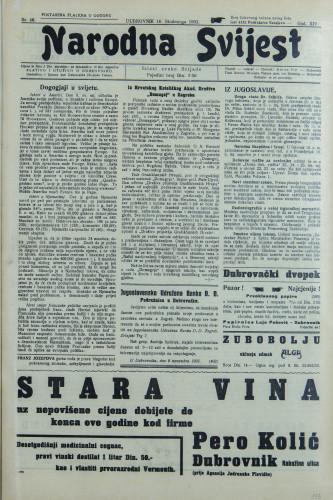 Narodna svijest, 1932/46