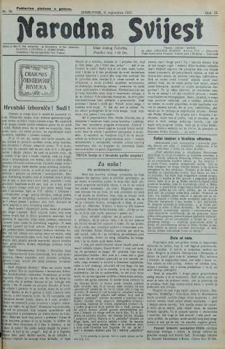 Narodna svijest, 1927/36