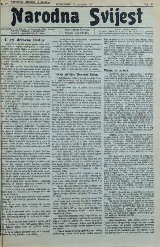 Narodna svijest, 1927/47