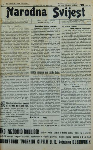 Narodna svijest, 1930/21