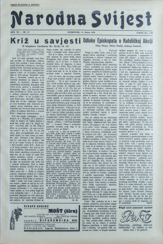 Narodna svijest, 1938/37