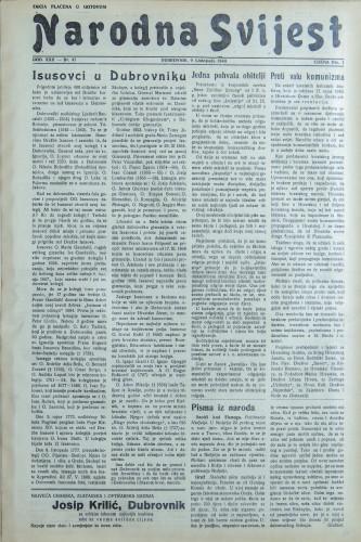 Narodna svijest, 1940/41