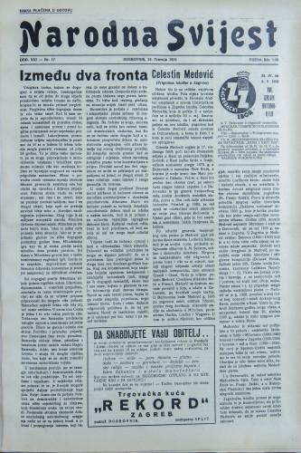 Narodna svijest, 1939/17