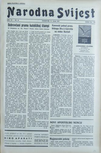 Narodna svijest, 1938/26