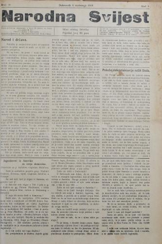 Narodna svijest, 1919/10