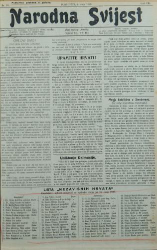 Narodna svijest, 1926/18