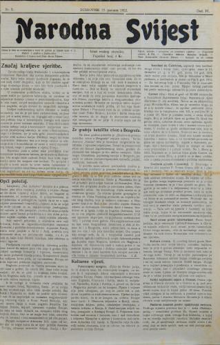 Narodna svijest, 1922/3