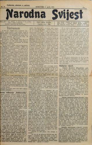 Narodna svijest, 1923/16