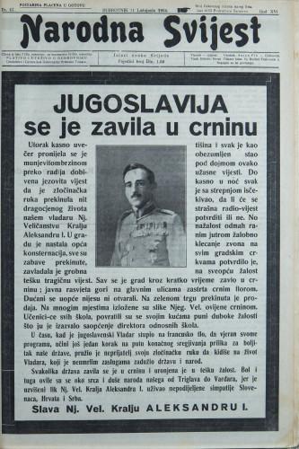Narodna svijest, 1934/41