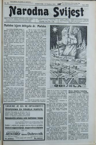 Narodna svijest, 1935/50