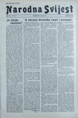 Narodna svijest, 1939/28