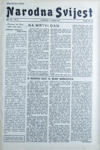 Narodna svijest, 1937/46