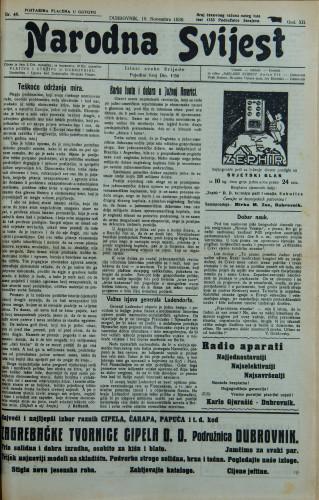 Narodna svijest, 1930/46