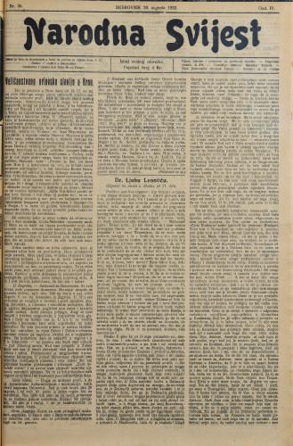 Narodna svijest, 1922/35