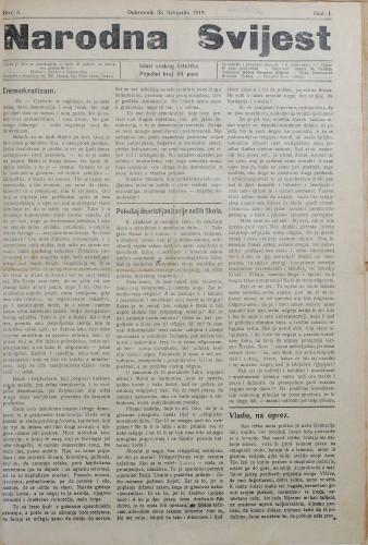Narodna svijest, 1919/8