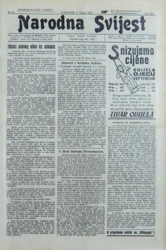 Narodna svijest, 1933/10