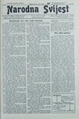 Narodna svijest, 1933/39