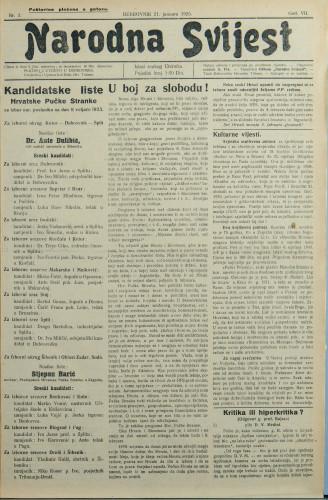 Narodna svijest, 1925/3
