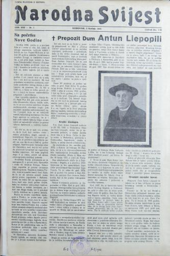 Narodna svijest, 1940/1