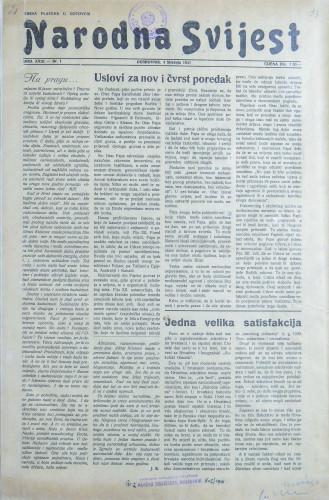 Narodna svijest, 1941/1