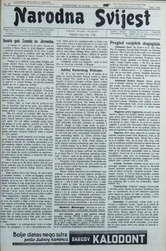 Narodna svijest, 1934/21