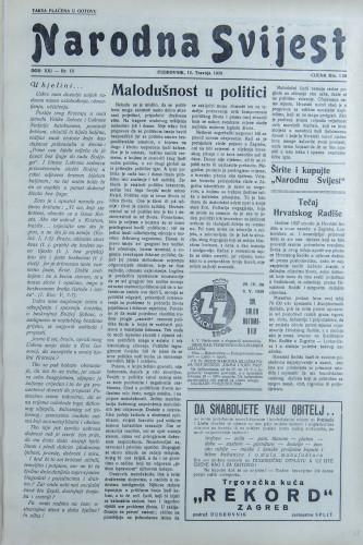 Narodna svijest, 1939/15