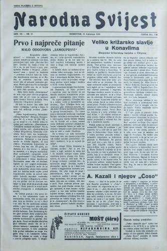 Narodna svijest, 1938/35