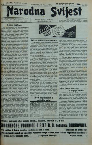 Narodna svijest, 1930/41
