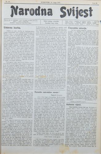Narodna svijest, 1921/20