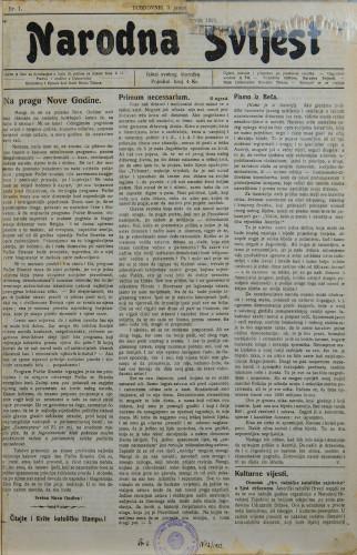 Narodna svijest, 1922/1