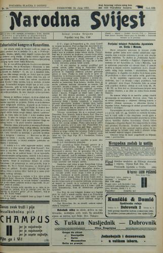 Narodna svijest, 1931/26