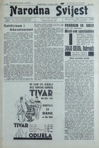 Narodna svijest, 1933/49